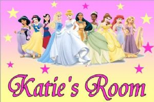 Personalised Disney Princess Door Plaque
